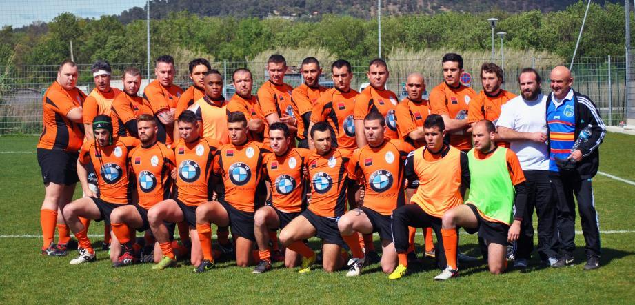 Le XV mentonnais jouera contre le RC Donatien. (D.R.)