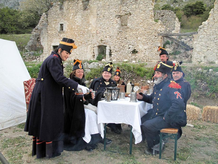 Tournage pour Échappées belles de France 5 pour les grenadiers de l'empereur.
