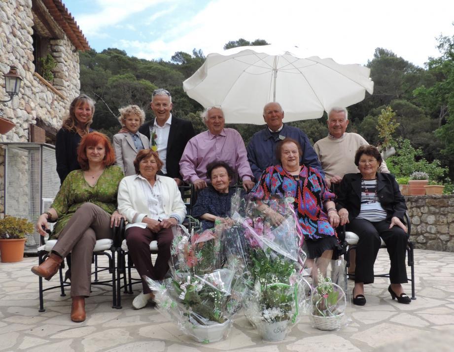 Anna Peirano a partagé son repas d'anniversaire avec sa famille.