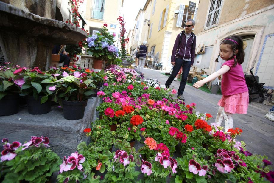 Les curieux ont pu découvrir autrement le jardin à travers la quarantaine de stands présents, hier, dans les ruelles du village.