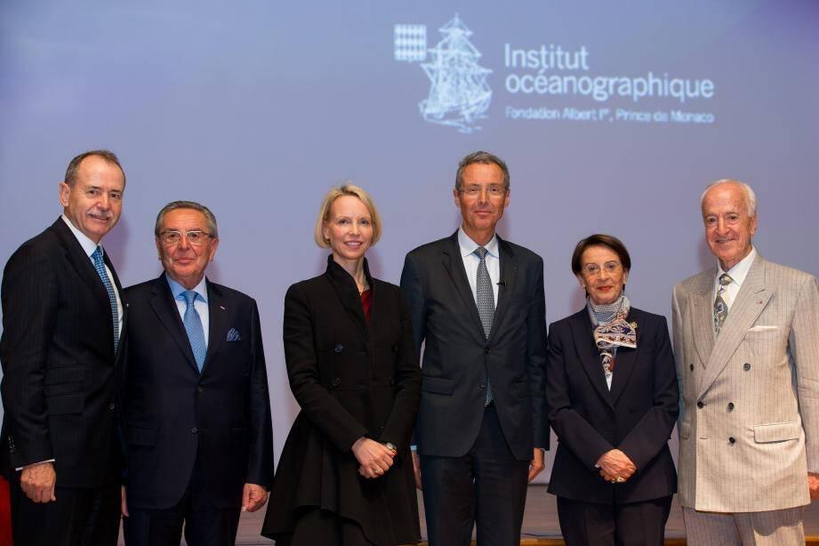 De gauche à droite : Werner Peyer, Giuseppe Boglio, Kristina Ridley, Robert Calcagno, Flavia Boglio, Karl H. Vanis.(DR)