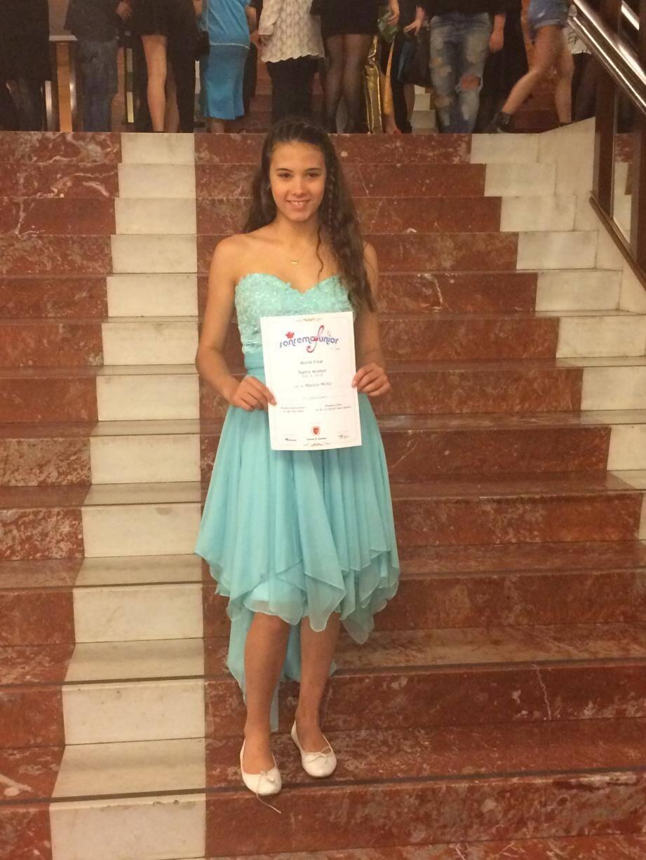 Manon Mirto, 13 ans, a obtenu la 3e place aux San Remo Junior.(D.R.)