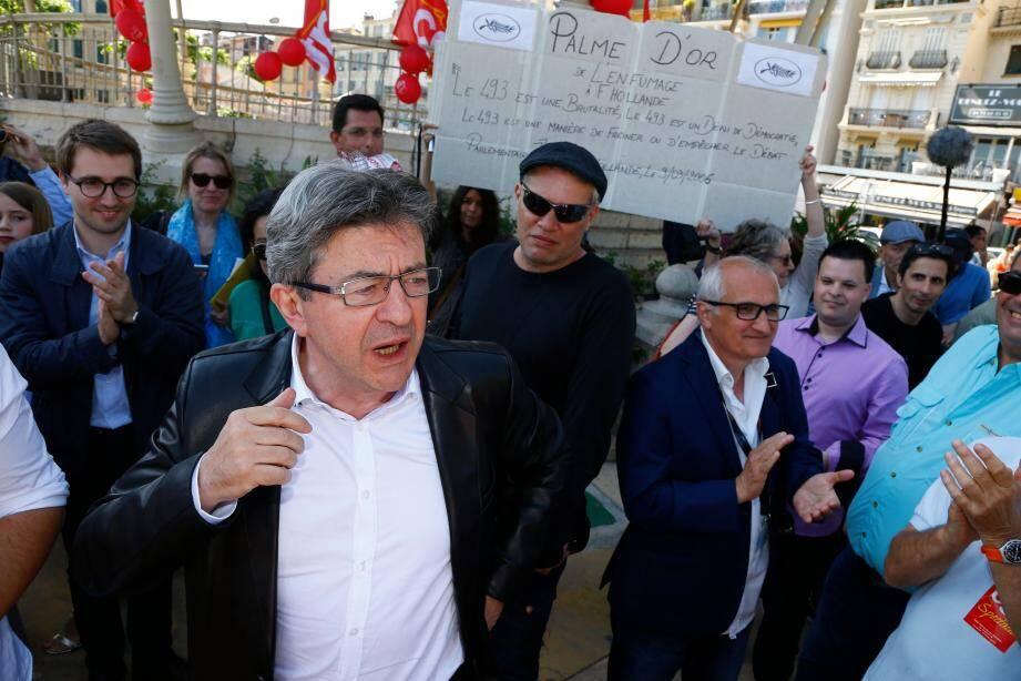 « À chaque fois que je viens au Festival, je tombe sur une lutte sociale » a indiqué hier le leader du Parti de gauche.