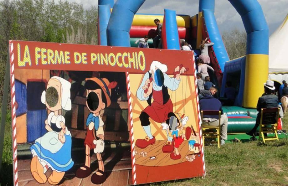 Jeux, animations et bons moments sont à partager au Parc Pinocchio qui s'installe sur le parking de la Siagne à partir du samedi 21 mai. (DR)