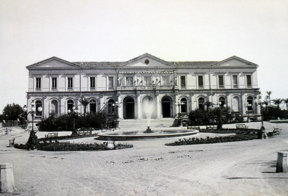 Le premier casino des Spélugues, inauguré le 18 février 1863, est situé au même endroit que l'actuel.(DR)