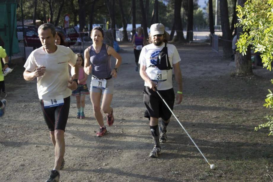 Nicolas a été acclamé par les participants et les spectateurs tout au long de la course.