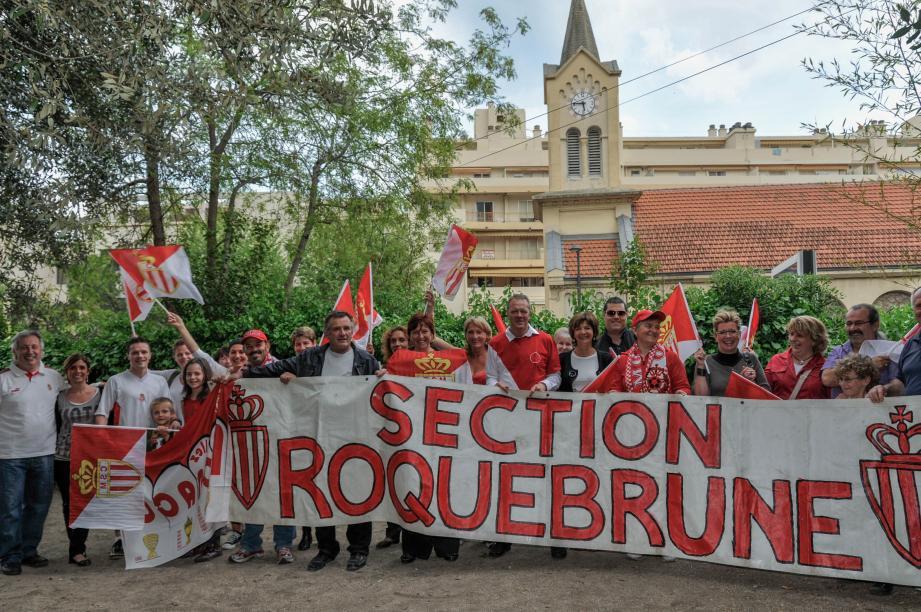 La section roquebrunoise de supporters de l'AS Monaco va se charger d'animer Carnolès durant la période de l'Euro 2016.