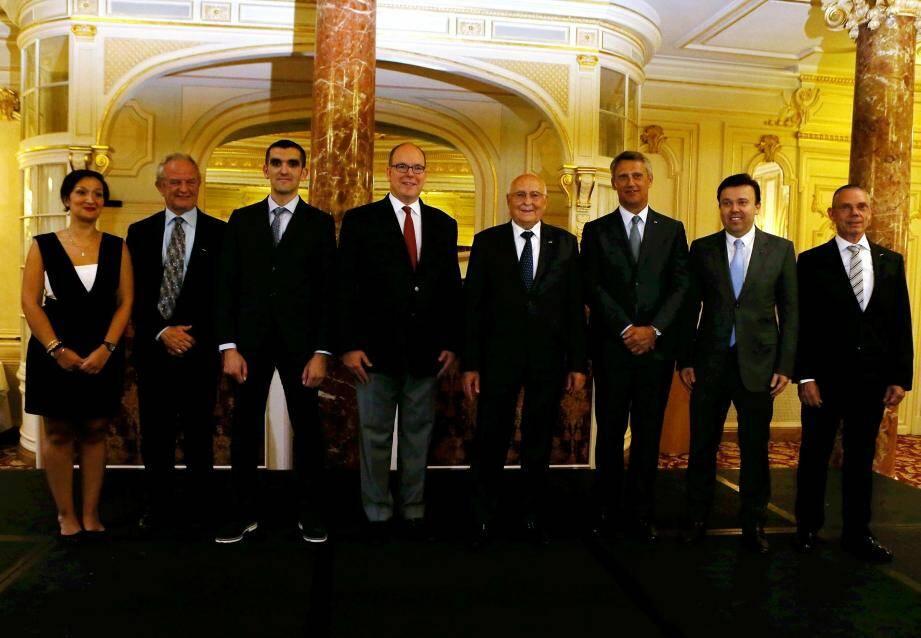 Le prince souverain a célébré l'anniversaire du Tribunal du travail aux côtés du président et du vice-président de la juridiction, Jacques Wolzok et Karim Tabchiche.