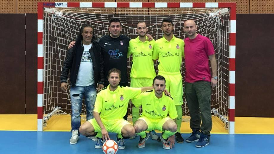 L'équipe du club monégasque de futsal clôture sa saison par une victoire encourageante.(DR)