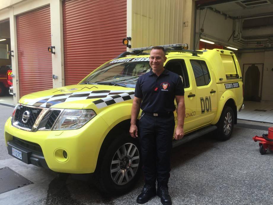 Jean-Philippe Dol, sapeur-pompier, vit cette année son 27e Grand Prix de Monaco.