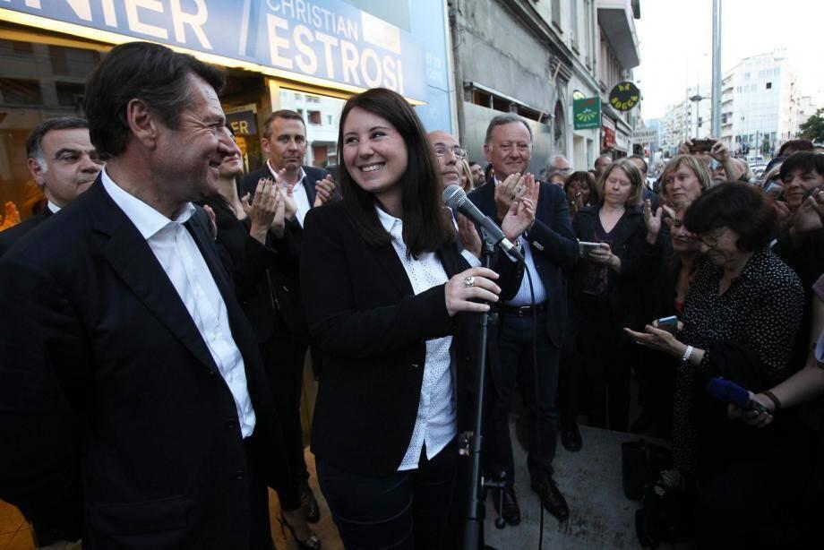 La joie de Marine Brenier, élue députée à 29 ans hier soir.