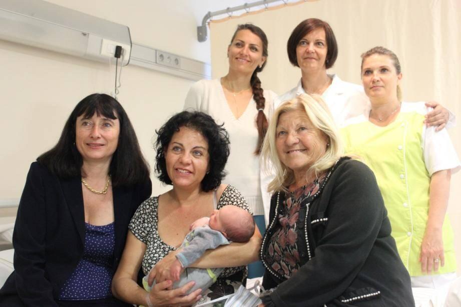 Andréa Barretta est né hier matin à la clinique Saint-Jean de Cagnes.