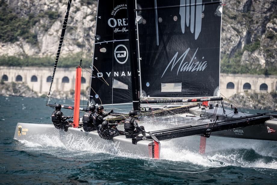 Dans les eaux du lac de Garde, l'équipage monégasque emmené par Pierre Casiraghi a décroché une deuxième place dans cette compétition de GC32.