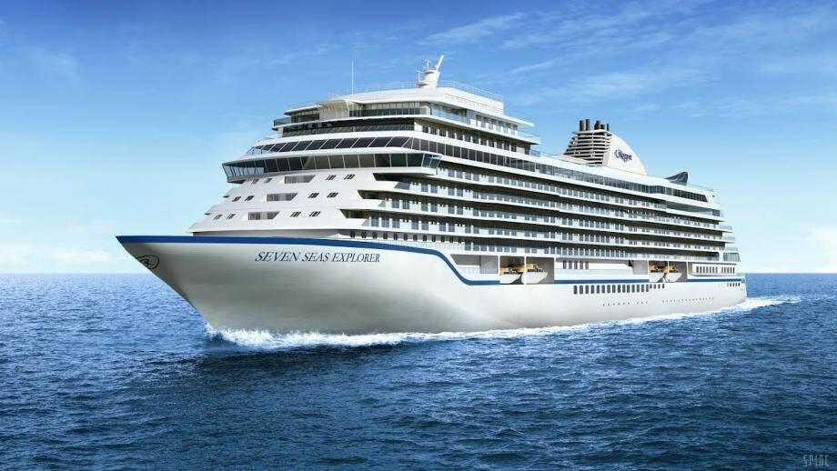 """Le Seven Seas Explorer, annoncé comme """"le plus luxueux navire de croisière au monde""""."""