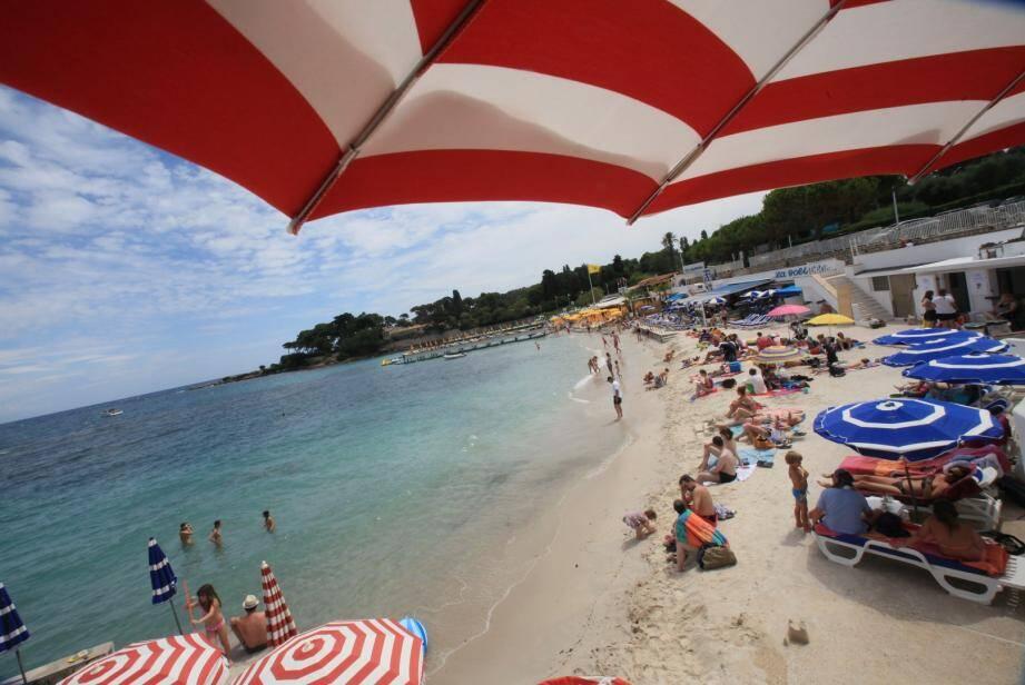 La plage de la Garoupe.