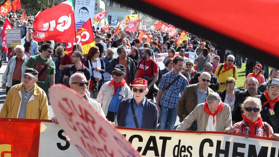 Une manifestation du 1er-Mai à Nice (image d'illustration).