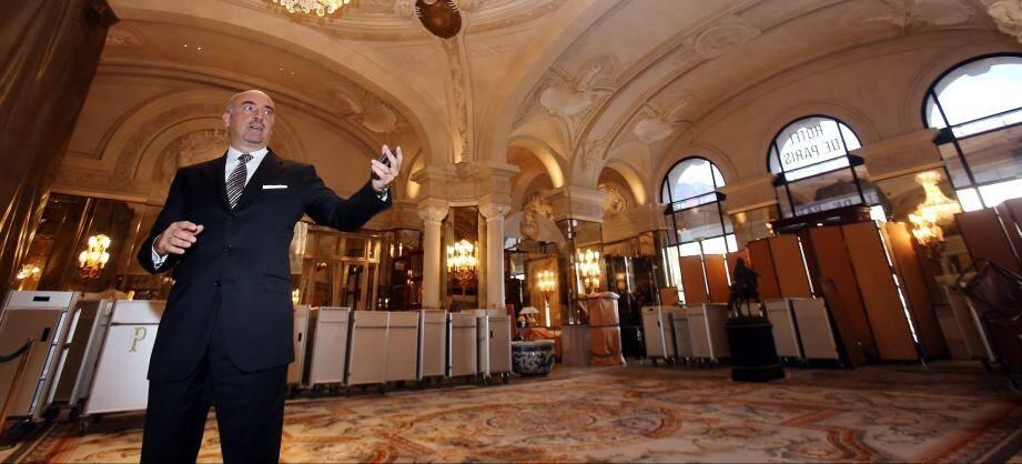 Luca Allegri, futur ex-directeur général de l'Hôtel de Paris.