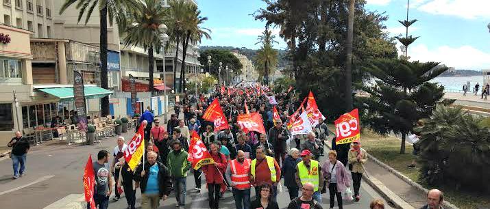 570 selon la police, 1.200 selon les organisateurs: à Nice, dimanche matin, le traditionnel défilé de la fête du travail a tourné en contestation de la loi El Khomri.