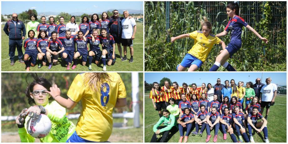 Les six équipes se sont régalées sur le terrain du CDJF Antibes, hier, pour le premier tournoi de football féminin (U17) organisé par le club.