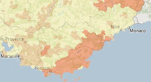 Une carte permet de connaître le potentiel radon dans votre commune. Des dépistages peuvent être préconisés