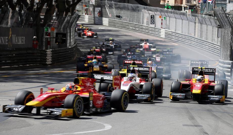 Course au GP de Monaco.