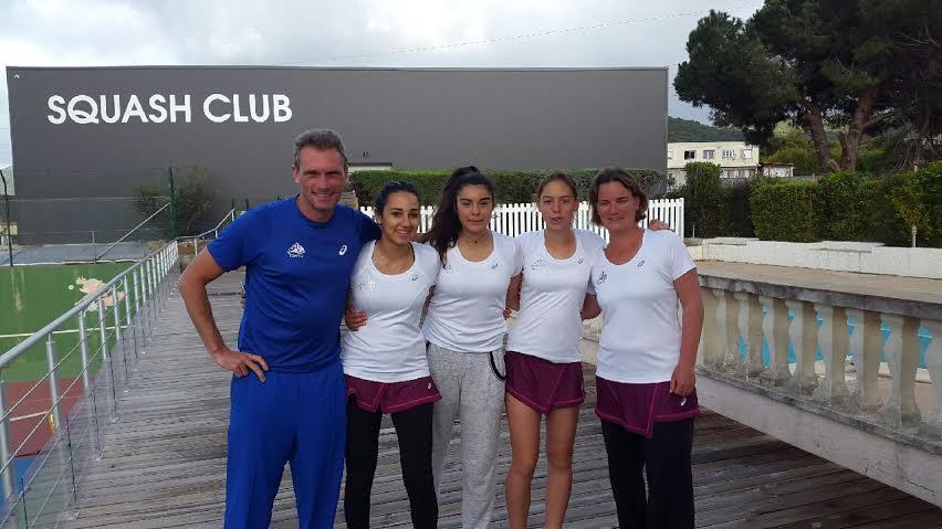 Christophe Lyonnard, Lisa Khamassi, Ines Yviquel, Noa Cohen, Bénédicte Goubeau et Sandra Fougner en mission.