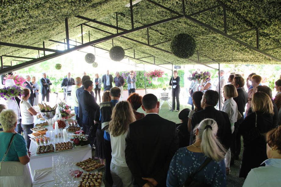 Lors de l'inauguration des travaux à l'EHPAD de la Gaude.
