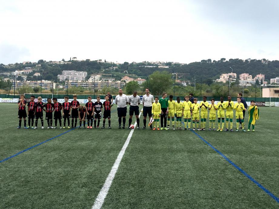 Belle affiche en finale U11 avec l'OGC Nice et Nantes.