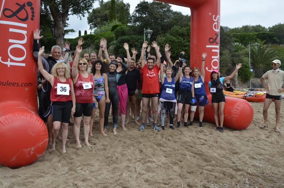 La course « loisir » au départ, sur le sable de Théoule-sur-Mer, hier.