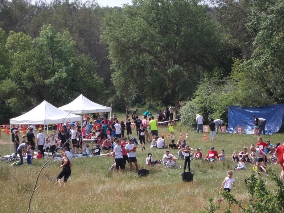 Hier, parents et enfants ont joué ensemble à repousser leurs limites sportives.