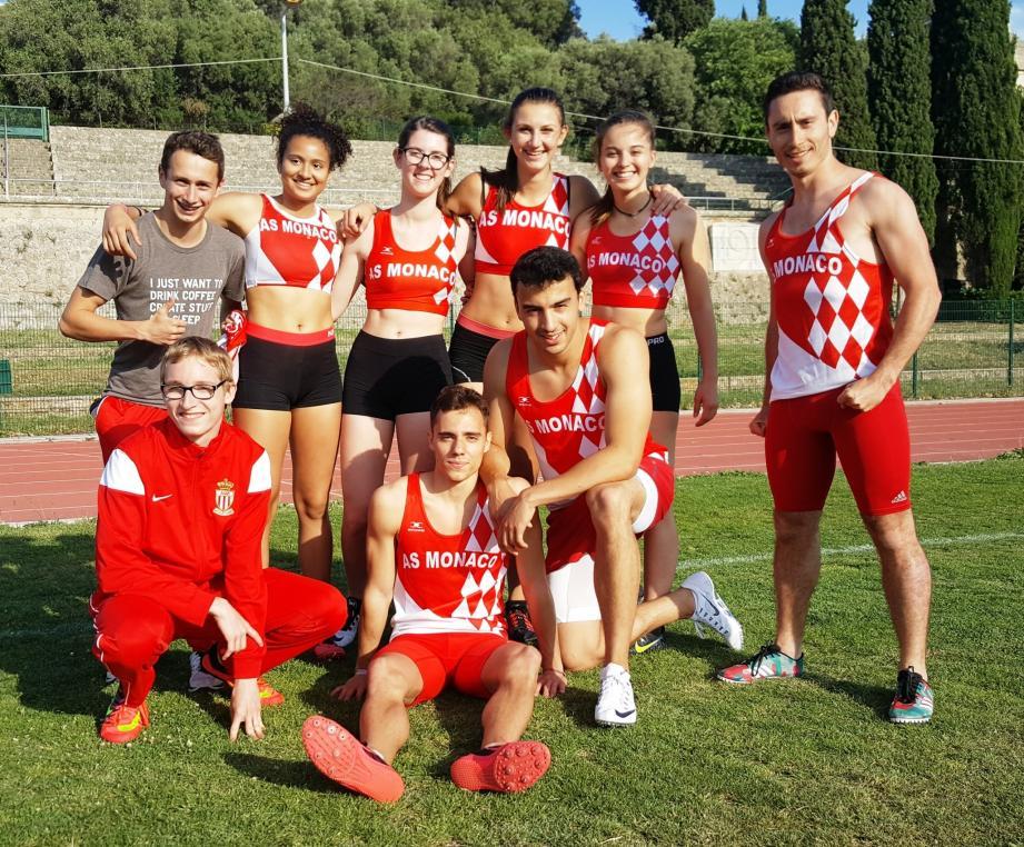 L'équipe de relais 4x100 m espoirs décroche le titre départemental à Antibes et devrait ainsi se qualifier pour les championnats de France.