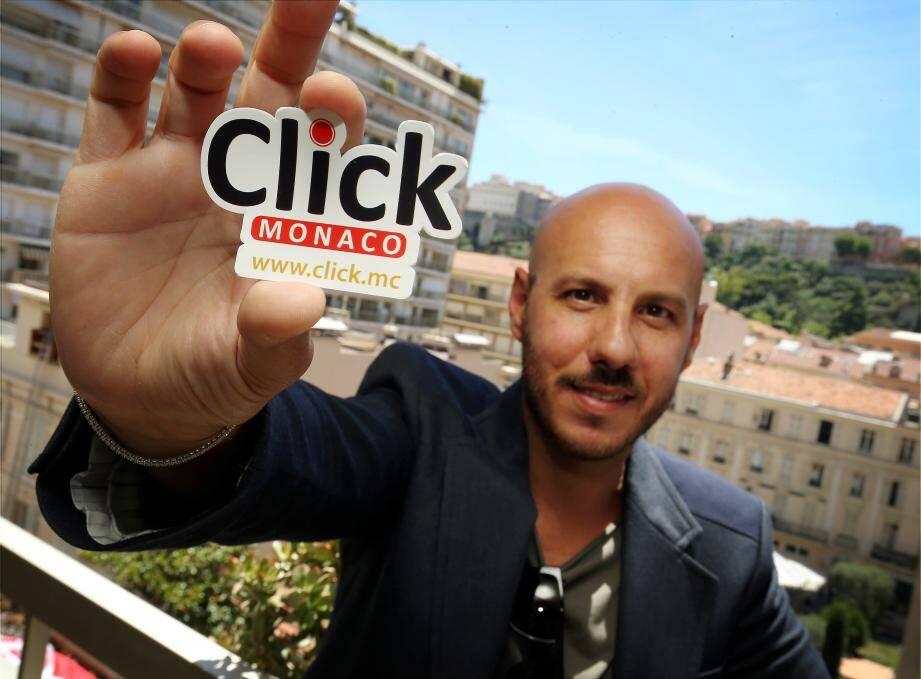 Antonio Vitalone, créateur de Click Monaco, un site d'achat-vente dédié à la Côte d'Azur