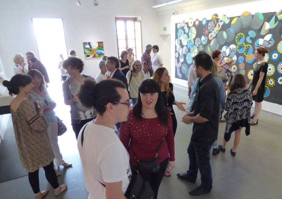 Beaucoup de monde samedi dernier pour le vernissage. L'invitation à la balade artistique entre berges du Var et vallée du Tibre vaut tout l'été, qu'on se le dise !