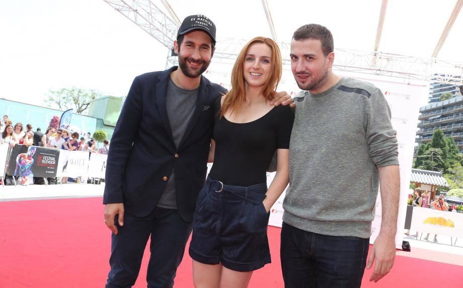 Lorenzo Benedetti, Alison Wheeler et Ludovik, hier à Monaco.