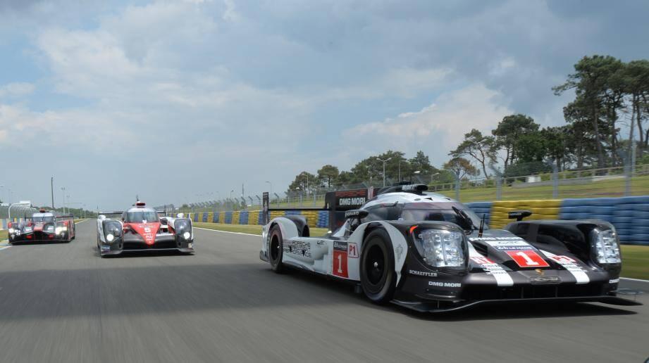La Porsche 919, championne du monde, très attendue lors des essais.