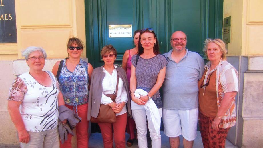 Les membres du jury à Nice pour la remise de prix.