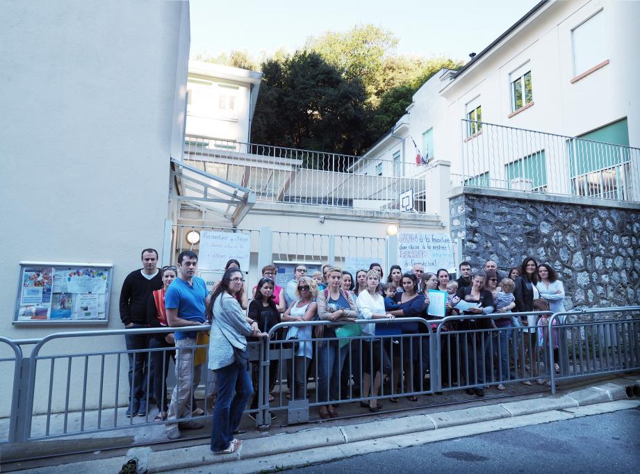 Les parents de La Madonette-Terron, à Nice, avaient manifesté, la semaine dernière, pour protester contre une probable fermeture de classe. Ils ont obtenu gain de cause.
