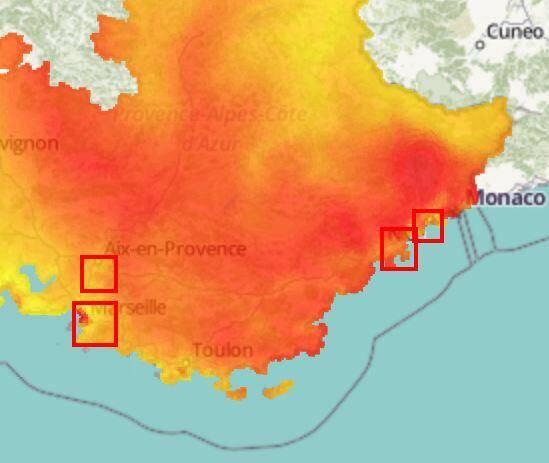 La qualité de l'air est médiocre ce jeudi dans le Var et les Alpes-Maritimes