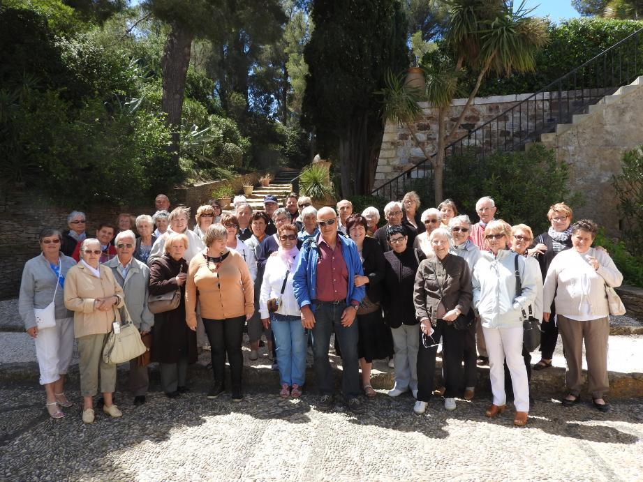 Les Niçois du canton en visite à Brégançon, résidence des présidents de la République.