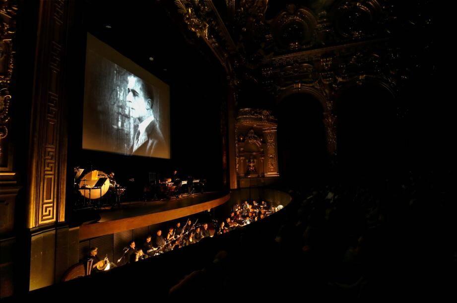 ciné-concert à l'opéra de Monte-Carlo, salle garnier