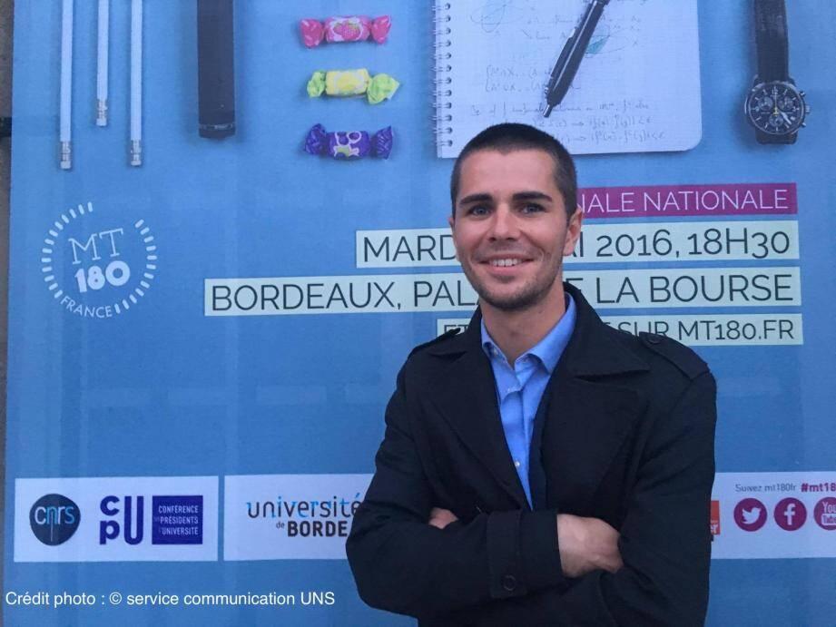 Bertrand Cochard, doctorant niçois, représentera la France à Rabat.