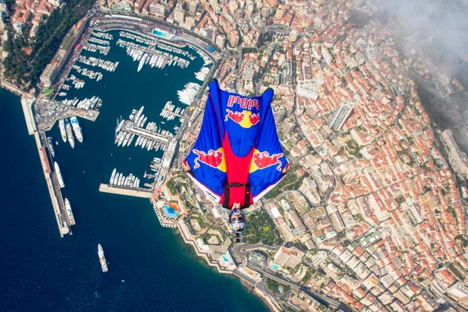 Jokke Sommer dans le ciel de Monaco.