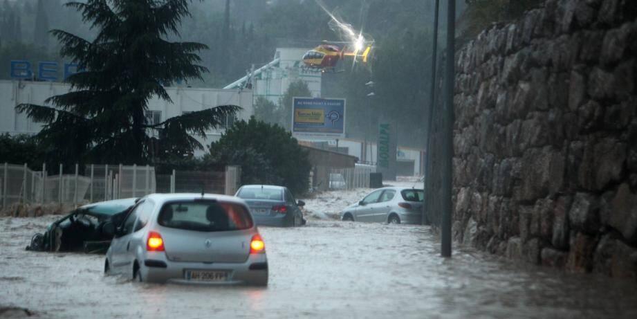 Les inondations à la Londe en 2014.