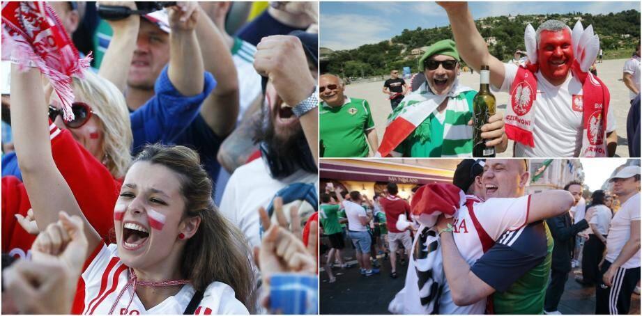 Superbe ambiance ce dimanche à Nice pour la rencontre Pologne - Irlande du Nord