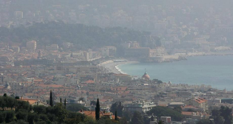 La pollution à Nice (illustration).