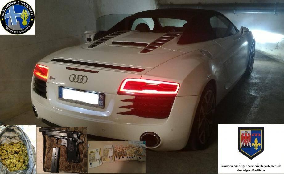 Ce coupé Audi de grosse cylindrée a  été saisie dans cette affaire.