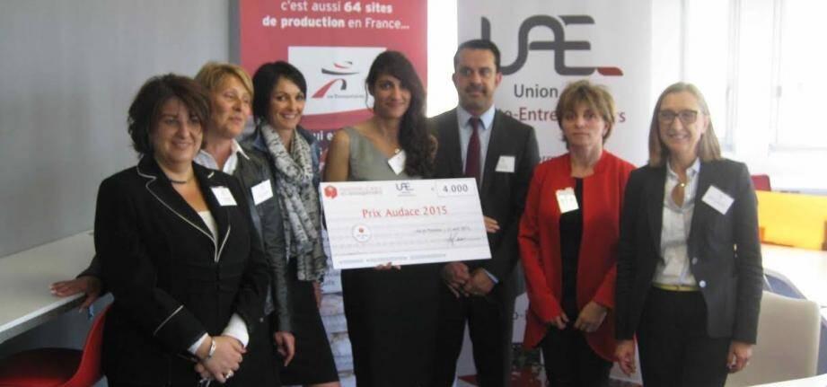 Claire Buonavista, lauréate 2015 pour la région Sud-Est du Prix Audace.