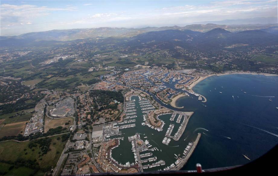 Vue aérienne du Golfe de Saint-Tropez