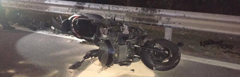 Le pilote du scooter, un homme de 53 ans, a perdu la vie, mercredi soir sur la pénétrante du Paillon.