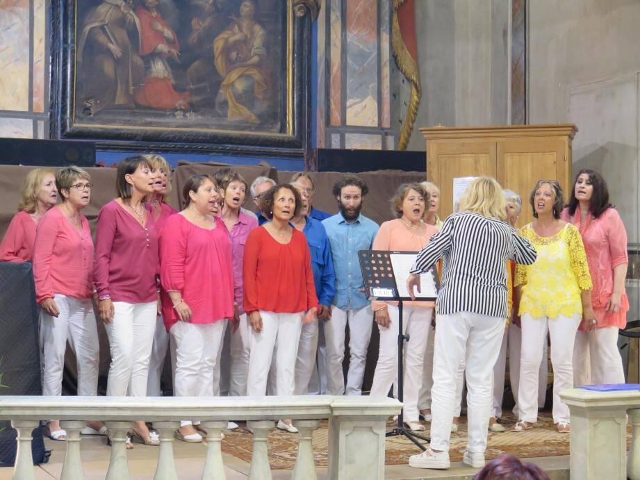 La chorale « Espace chant » de Villeneuve-Loubet s'est produit à Breil pour la troisième fois.